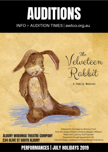 AUDITIONS - The VELVETEEN Rabbit A4