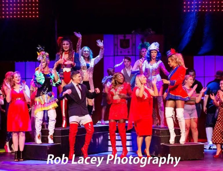 Image showing cast of AWTCo's production of Kinky Boots.
